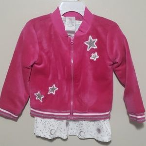 PINK AND WHITE 2 PC DRESS WITH JACKET